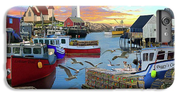 IPhone 6 Plus Case featuring the drawing Peggys Cove by David M ( Maclean )