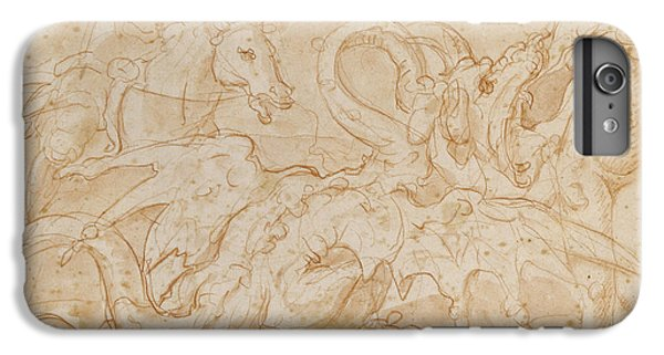 Perseus Rescuing Andromeda Red Chalk On Paper IPhone 6 Plus Case by or Zuccaro, Federico Zuccari