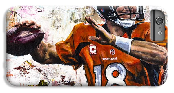 Peyton Manning IPhone 6 Plus Case by Mark Courage