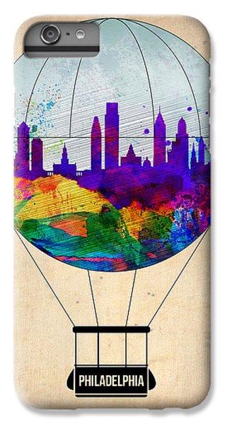 Philadelphia iPhone 6 Plus Case - Philadelphia Air Balloon by Naxart Studio