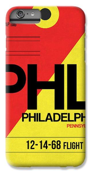 Philadelphia Luggage Poster 2 IPhone 6 Plus Case by Naxart Studio