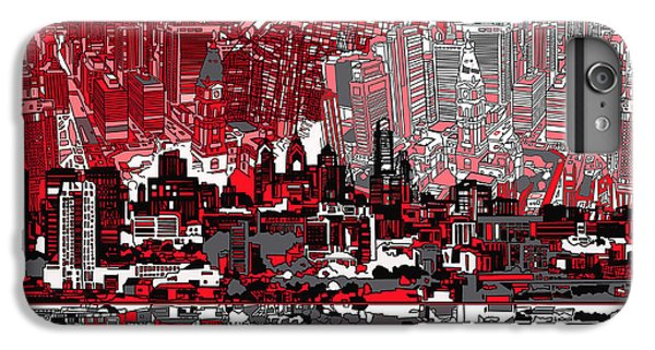 Philadelphia Skyline Abstract 4 IPhone 6 Plus Case