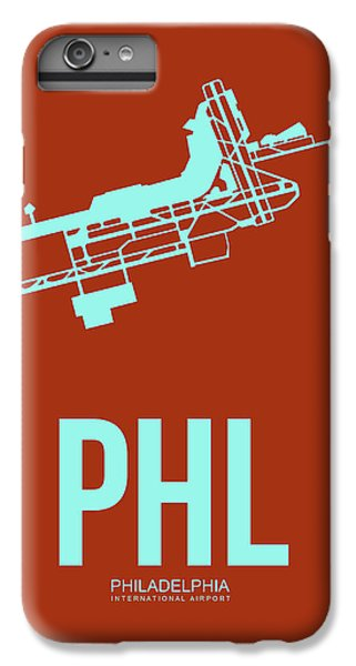 Phl Philadelphia Airport Poster 2 IPhone 6 Plus Case by Naxart Studio