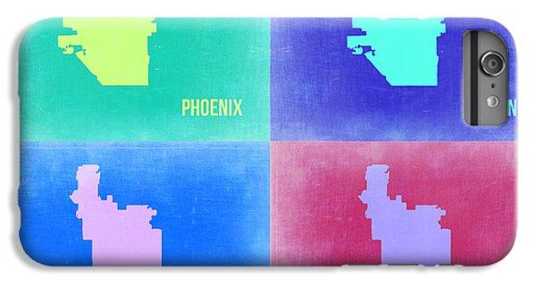 Phoenix iPhone 6 Plus Case - Phoenix Pop Art Map 1 by Naxart Studio