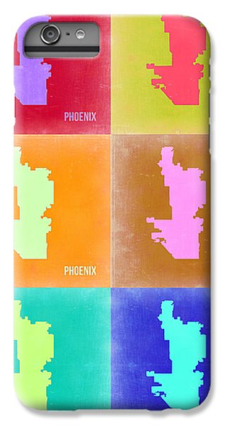 Phoenix iPhone 6 Plus Case - Phoenix Pop Art Map 3 by Naxart Studio