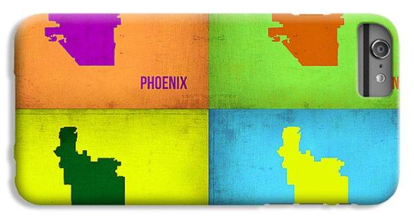 Phoenix iPhone 6 Plus Case - Phoenix Pop Art Map by Naxart Studio