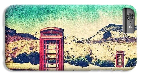 Sunny iPhone 6 Plus Case - #phone #telephone #box #booth #desert by Jill Battaglia
