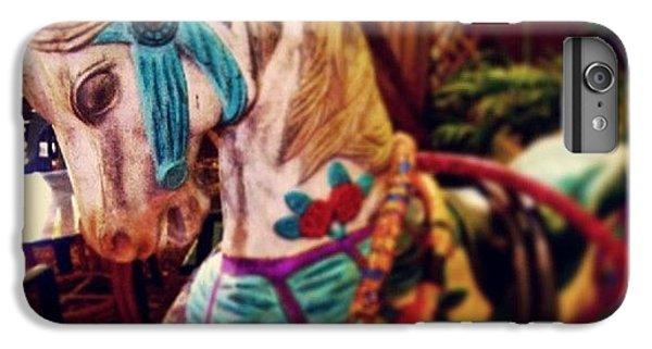 Decorative iPhone 6 Plus Case - Blue Heaven Carousel Horse by Dani Hoy
