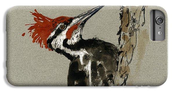Woodpecker iPhone 6 Plus Case - Pileated Woodpecker by Juan  Bosco