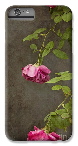 Flowers iPhone 6 Plus Case - Pink On Gray by K Hines