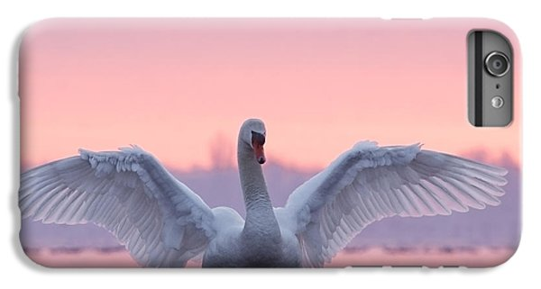 Swan iPhone 6 Plus Case - Pink Swan by Roeselien Raimond