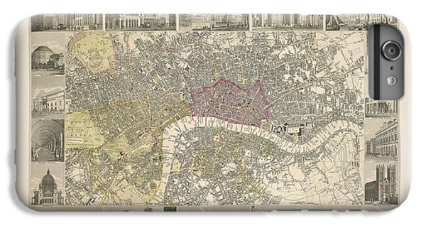 Tower Of London iPhone 6 Plus Case - Plan Of London by British Library