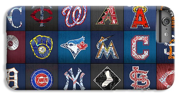 Play Ball Recycled Vintage Baseball Team Logo License Plate Art IPhone 6 Plus Case