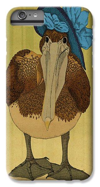 Pelican iPhone 6 Plus Case - Plumpskin Ploshkin Pelican Jill by Meg Shearer