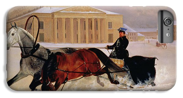 Moscow iPhone 6 Plus Case - Pole Pair With A Trace Horse At The Bolshoi Theatre In Moscow by Nikolai Egorevich Sverchkov