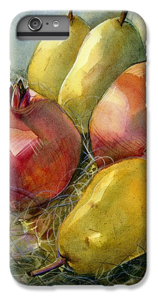 Pomegranates And Pears IPhone 6 Plus Case by Jen Norton