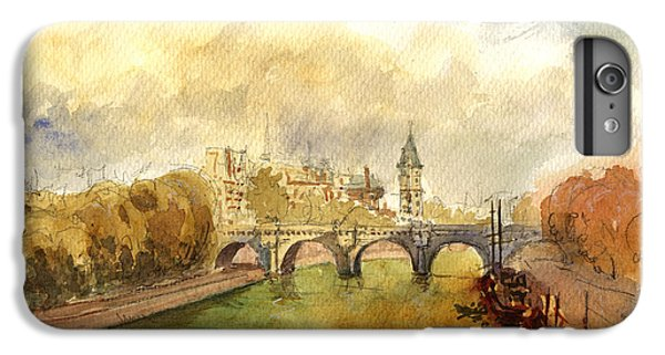 Ponte Neuf Paris IPhone 6 Plus Case by Juan  Bosco
