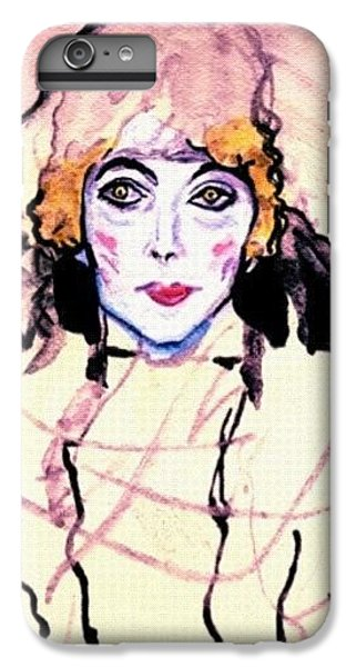 Portrait Of A Lady En Face After Gustav Klimt IPhone 6 Plus Case