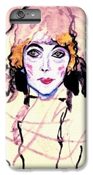 iPhone 6 Plus Case - Portrait Of A Lady En Face After Gustav Klimt by Anna Porter