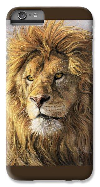 Portrait Of A Lion IPhone 6 Plus Case by Lucie Bilodeau