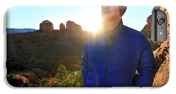 Knit Hat iPhone 6 Plus Case - Portrait Of A Male Hiker In Sedona by Kyle Ledeboer