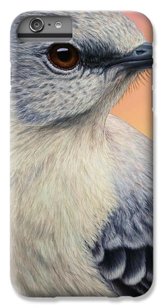 Mockingbird iPhone 6 Plus Case - Portrait Of A Mockingbird by James W Johnson