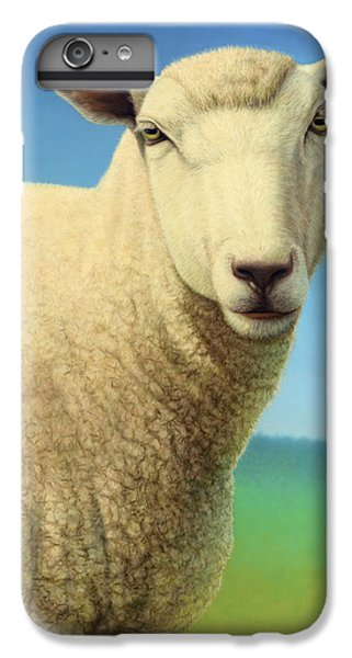 Portrait Of A Sheep IPhone 6 Plus Case by James W Johnson