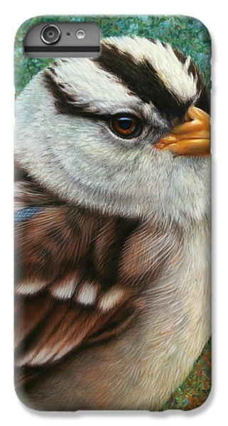 Sparrow iPhone 6 Plus Case - Portrait Of A Sparrow by James W Johnson