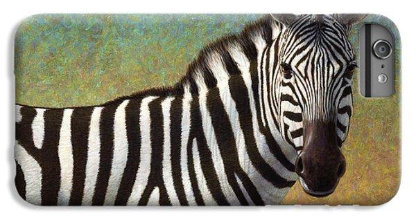 Portrait Of A Zebra IPhone 6 Plus Case by James W Johnson