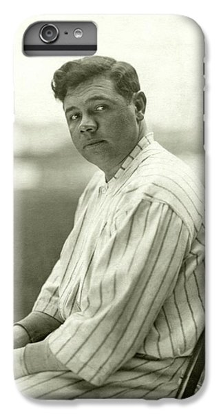 Portrait Of Babe Ruth IPhone 6 Plus Case by Nicholas Muray