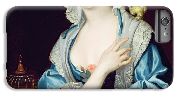 Portrait Of Peg Woffington IPhone 6 Plus Case by Jean-Baptiste van Loo