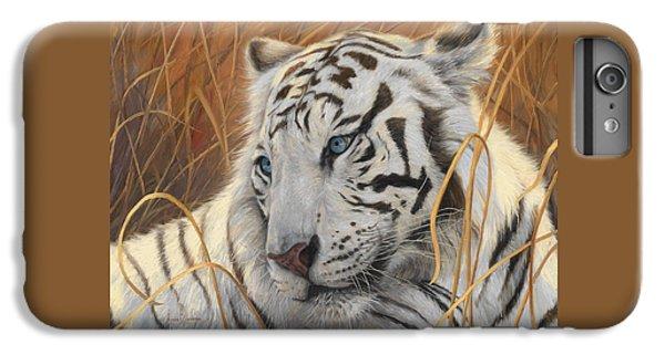 Portrait White Tiger 1 IPhone 6 Plus Case by Lucie Bilodeau