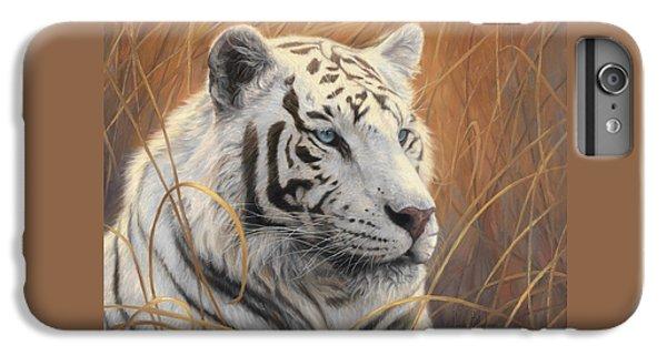 Portrait White Tiger 2 IPhone 6 Plus Case by Lucie Bilodeau