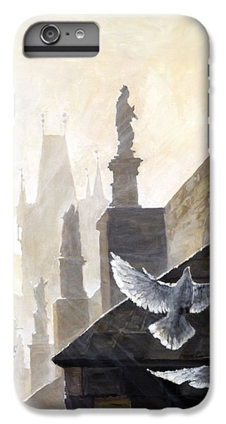 Prague Morning On The Charles Bridge  IPhone 6 Plus Case by Yuriy Shevchuk