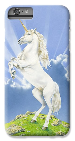 Unicorn iPhone 6 Plus Case - Prancing Unicorn by Irvine Peacock