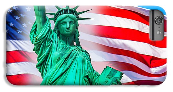 Statue Of Liberty iPhone 6 Plus Case - Pride Of America by Az Jackson