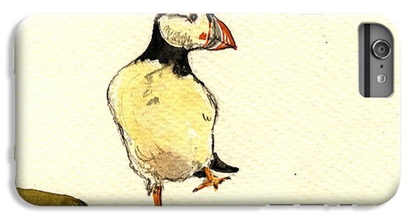 Puffin iPhone 6 Plus Case - Puffin Bird by Juan  Bosco