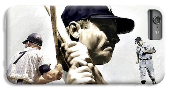 Quality Of Greatness Mickey Mantle IPhone 6 Plus Case by Iconic Images Art Gallery David Pucciarelli