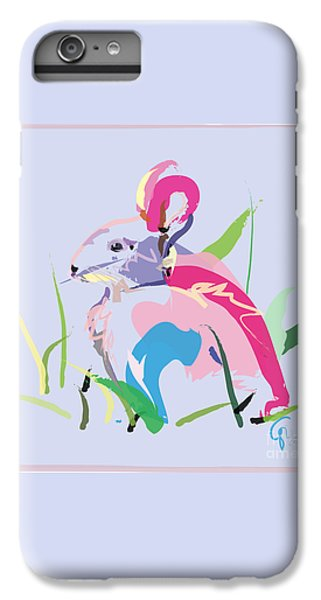 Rabbit - Bunny In Color IPhone 6 Plus Case