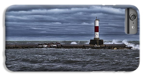 IPhone 6 Plus Case featuring the photograph Raging Lake Michigan  by Ricky L Jones