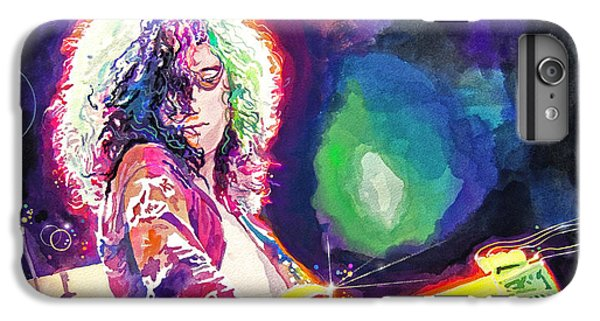 Rock Music Jimmy Page iPhone 6 Plus Case - Rain Song Jimmy Page by David Lloyd Glover