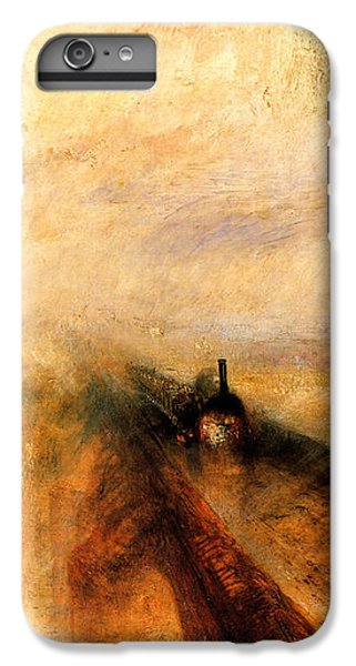 Train iPhone 6 Plus Case - Rain Steam And Speed.  by J M W Turner