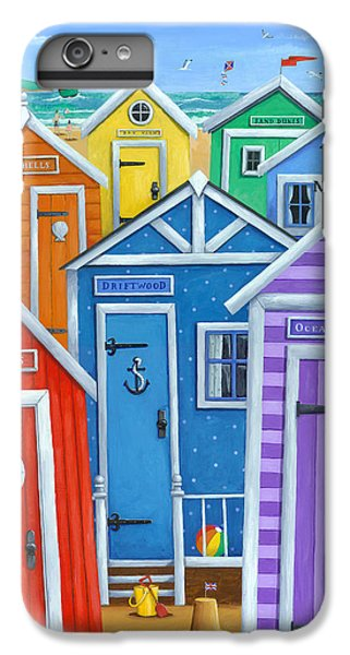 Beach iPhone 6 Plus Case - Rainbow Beach Huts by Peter Adderley