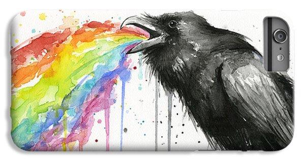 Raven iPhone 6 Plus Case - Raven Tastes The Rainbow by Olga Shvartsur