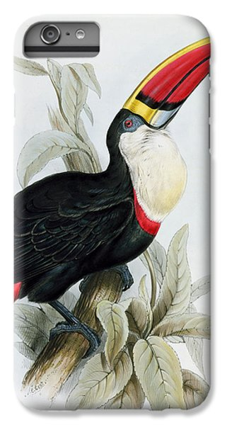 Red-billed Toucan IPhone 6 Plus Case by Edward Lear