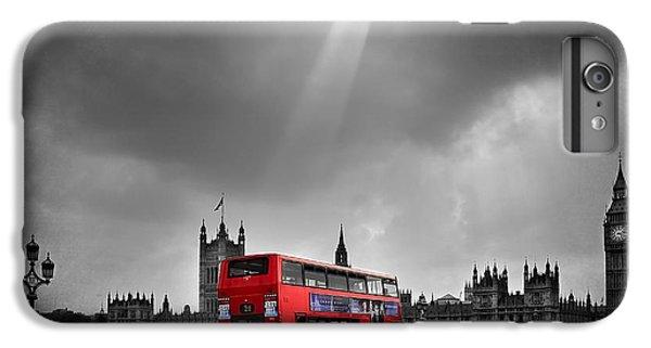 London Eye iPhone 6 Plus Case - Red Bus by Svetlana Sewell