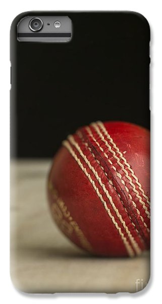 Cricket iPhone 6 Plus Case - Red Cricket Ball by Edward Fielding