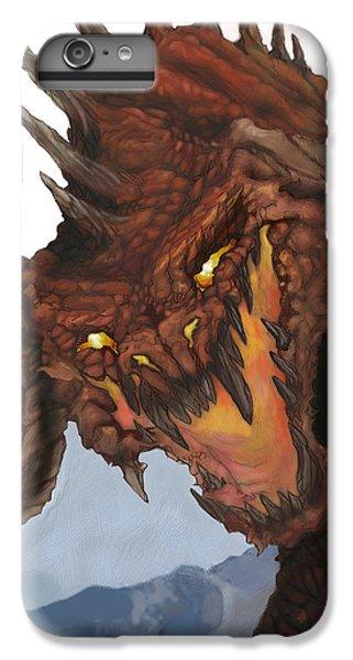 Dungeon iPhone 6 Plus Case - Red Dragon by Matt Kedzierski