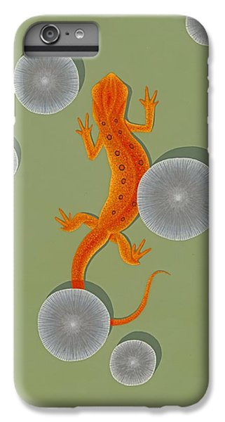 Red Eft Newt IPhone 6 Plus Case by Nathan Marcy