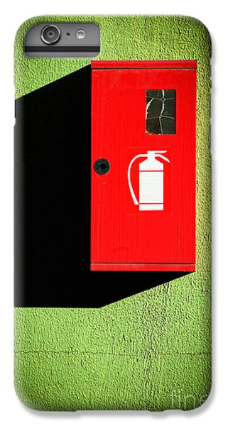 Red Fire Extinguisher Box IPhone 6 Plus Case by Silvia Ganora
